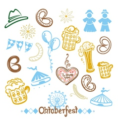 Oktoberfest objects and symbols vector