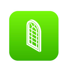 palace window frame icon green vector image