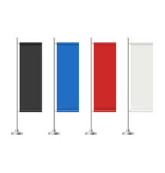realistic flag banner advertising colored red vector image