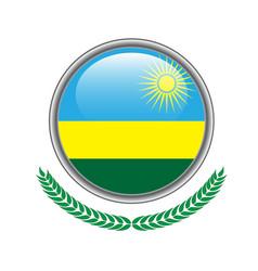 rwanda flag button rwanda flag icon of rwanda vector image