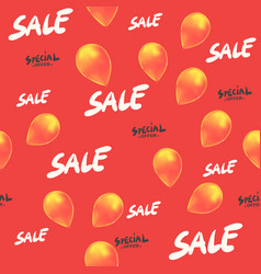 sale seamless pattern with balloons special offer vector image