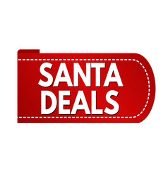 santa deals banner design vector image