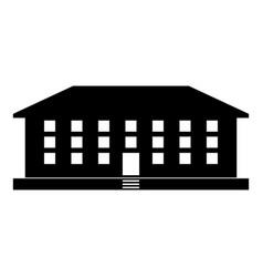 School building icon black color flat style vector