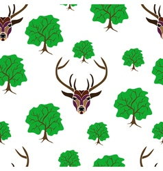 seamless deer vector image