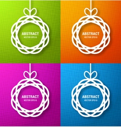 Set of Bright Abstract Circles Paper Applique vector image