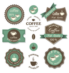 Set of coffee iconslabels posters signs banners vector