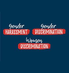 set of discrimination racism and harassment label vector image