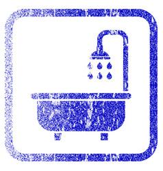 Shower bath framed textured icon vector