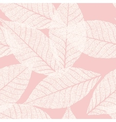 Skeletonized leaves seamless vector image