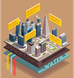 skyscrapers utility systems composition vector image