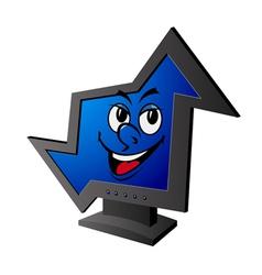 smiling cartoon computer vector image