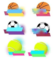 Sport balls banners set vector
