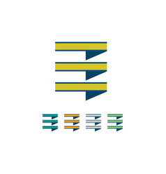 square stripe logo vector image