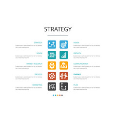 Strategy infographic 10 option conceptgoal vector