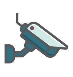 surveilance camera colorful line icon cctv vector image