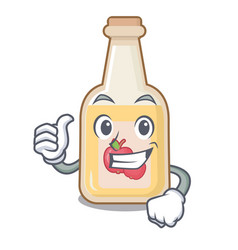 thumbs up apple cider isolated with mascot vector image