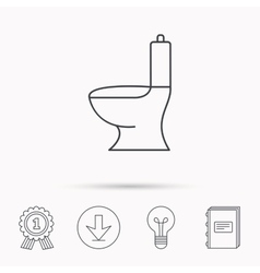 Toilet icon Public WC sign vector image