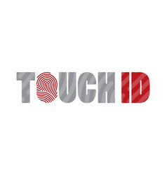Touch id fingerprint scanning identification vector