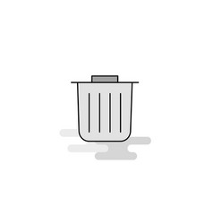 trash web icon flat line filled gray icon vector image