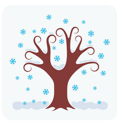 Tree in winter vector