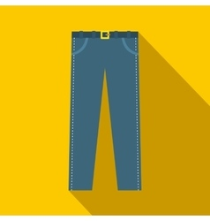 Trousers with belt icon in flat style vector image