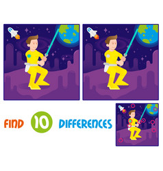 warrior find 10 differences vector image