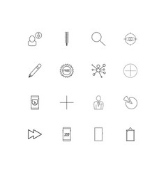web and text simple linear icons set outlined vector image