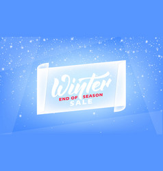 winter sale end of season winter banner with vector image