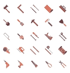 Work tools icons or symbols vector image