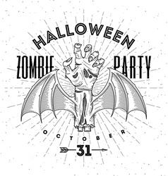 Zombie hand - halloween line art vector