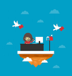 468office on island vector image vector image