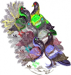embroidery pigeon vector image vector image