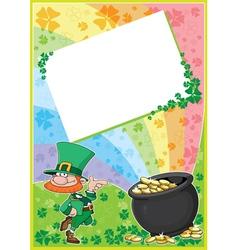 rainbow clover card vector image