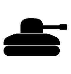 tank icon black color flat style simple image vector image