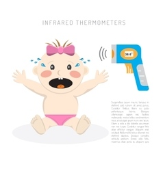 Temperature measurement baby vector image vector image