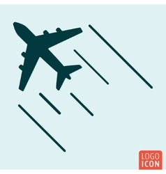 Airplane icon isolated vector image