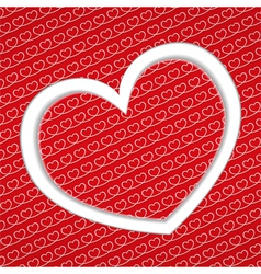 Backgound with hearts vector image vector image