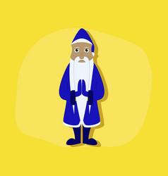Paper sticker on stylish background santa claus vector