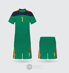 spain goalkeeper vector image vector image