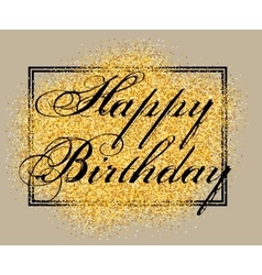 template for greeting card happy birthday vector image vector image