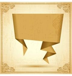 Vintage Origami Speech Bubble Background vector image vector image