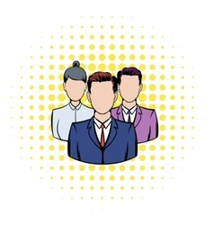 Business team icon comics style vector image vector image