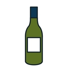 Delicious and traditional wine bottle vector image