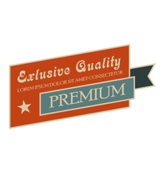 Exclusive quality vintage banner vector image