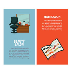 hairdresser beauty hair salon poster for vector image vector image