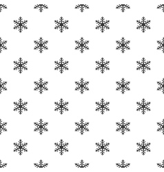 Snowflake pattern simple style vector image vector image