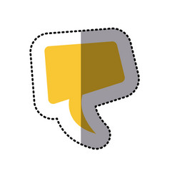 sticker yellow square dialog box design vector image