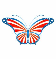 usa butterfly vector image vector image