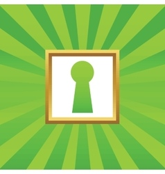 Keyhole picture icon vector image vector image