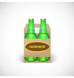 Packaging of beer vector